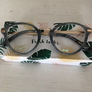 EYEBUYDIRECT YUKE GREY MARBLE EYEGLASSES